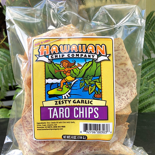 Zesty Garlic Taro Chips - Small 4.oz