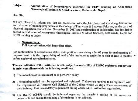 Accreditation of FCPS Residency Program