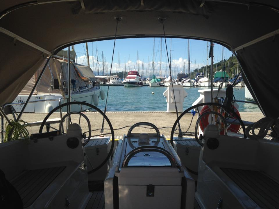 Darwin sailboat cockpit