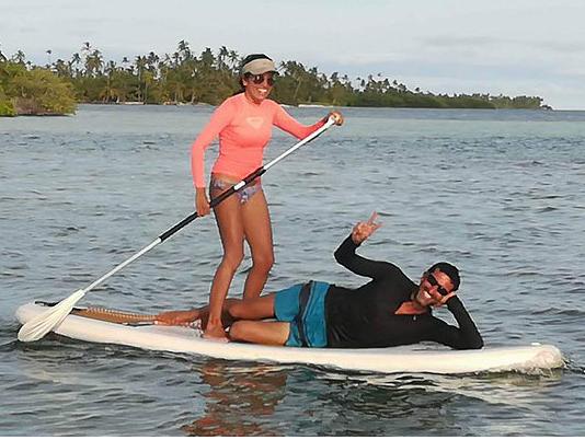 Lagoon 410 paddle board