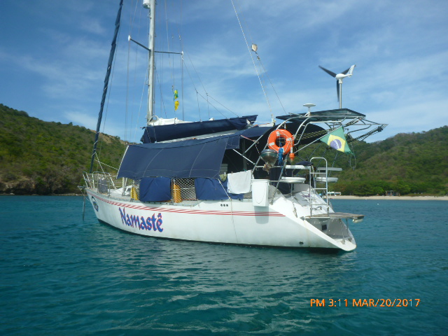 Namaste at anchor