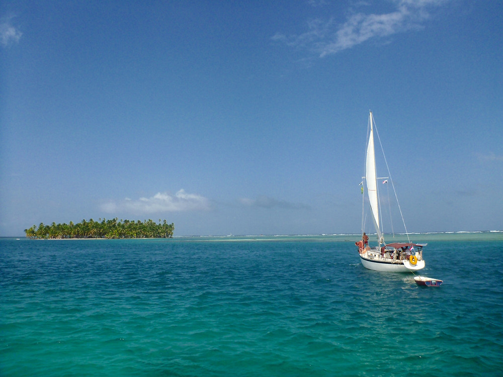 Sailboat in San Blas Islands