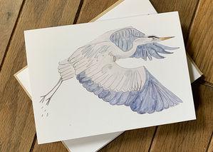 heron notecard