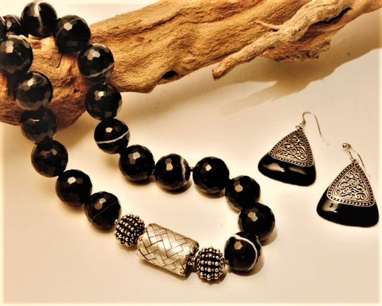 Banded Agate and Bali Silver set.jpg