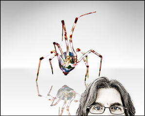 Self Protrait with Spider