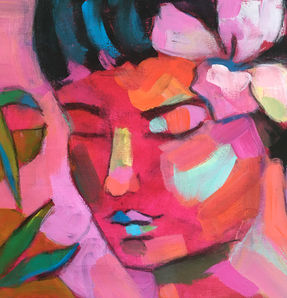 Woman with Oleander