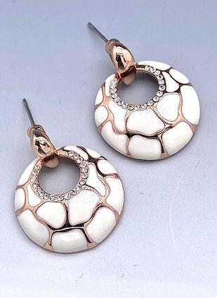 Ivory Enamel earrings in rose gold plated.jpg