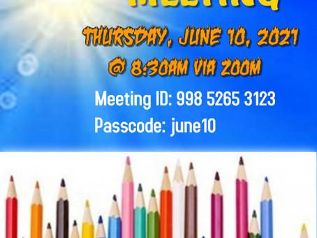 USREF June Meeting - Final USREF meeting of the 2020-2021 school year 🙌