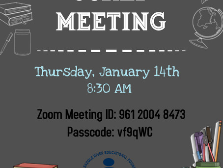 Happy New Year! Join us Thursday, 1/14 @ 8:30 am for our first meeting of 2021