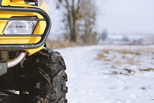 Closeup of ATV Front Light