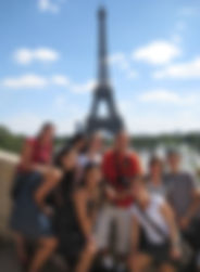 Student group at Tour Eiffel