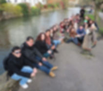Students on the River Avon in Stratford-on-Avon