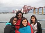 Students at Forth Bridge