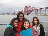 Students at Forth Bridge