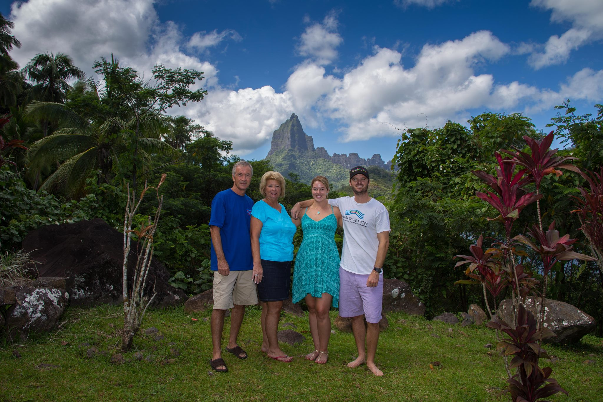 the view from the lawn of our rental house in Moorea