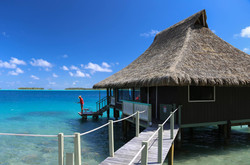 our overwater bungalow in Bora Bora