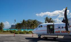 landing in Maupiti