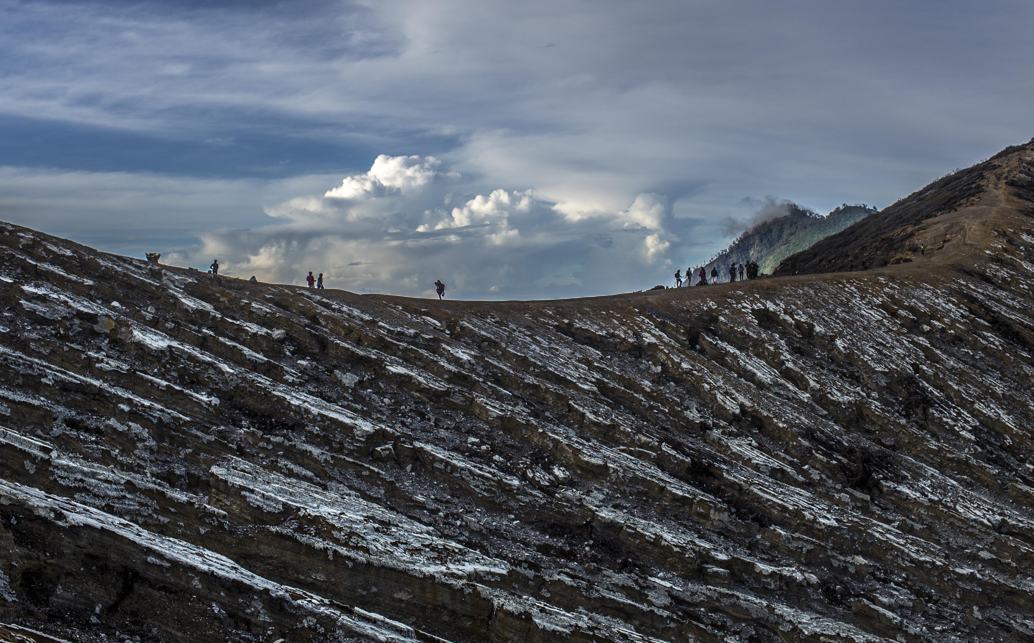Ijen Volcano Crater Rim