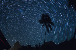 long exposure looking towards celestial south pole