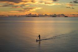 SUP in Majuro's calm lagoon