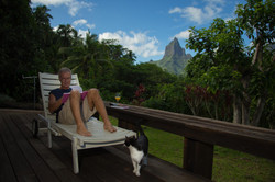 our deck in Moorea