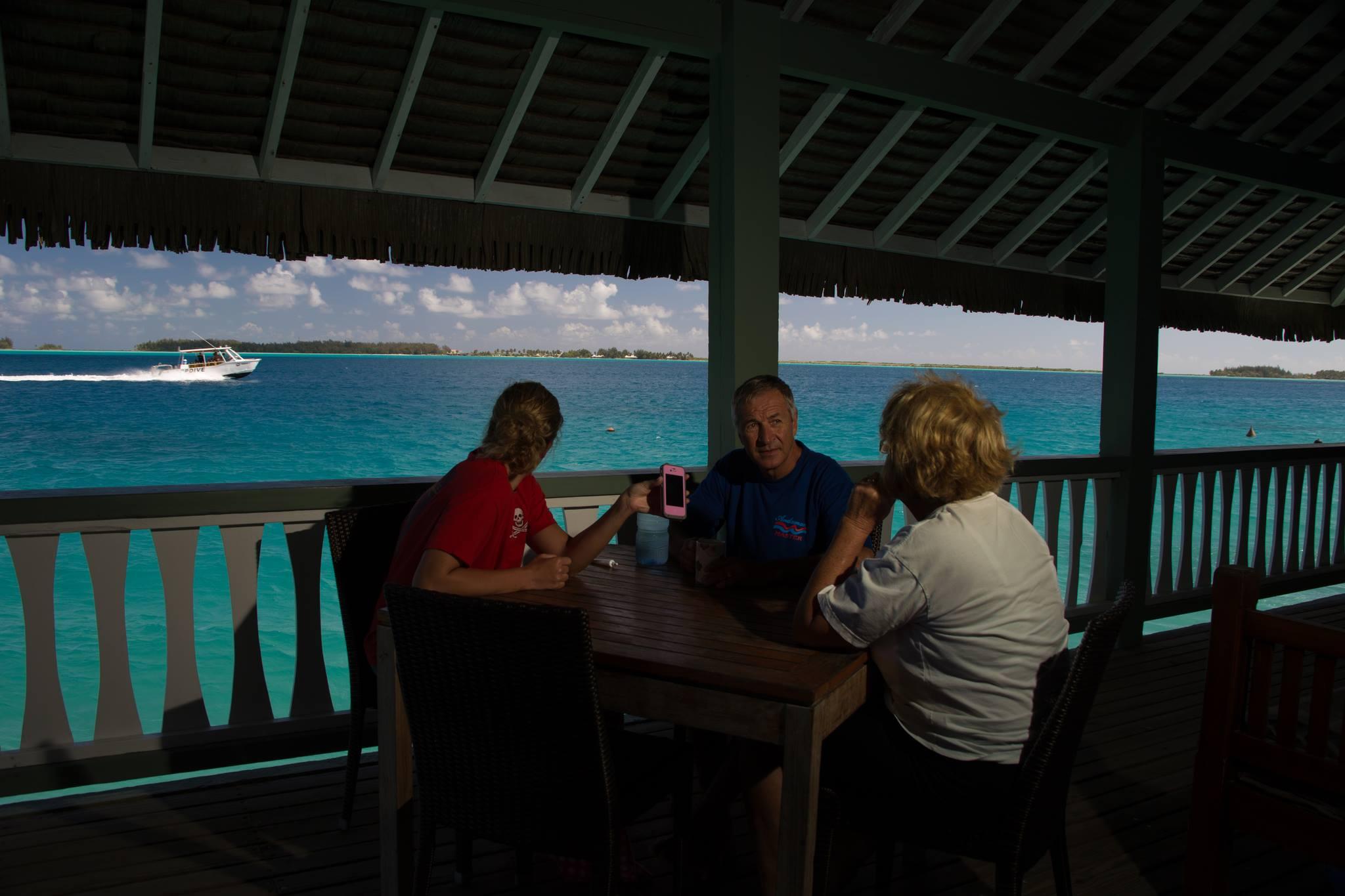 our fantastic overwater bungalow in Bora Bora
