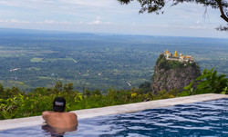 pondering the Taung Kalat Temple from the Popa mountain resort