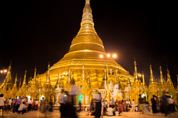 Shwedagon Pagoda, in Yangon