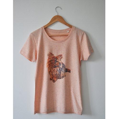 T-shirt chaton rose