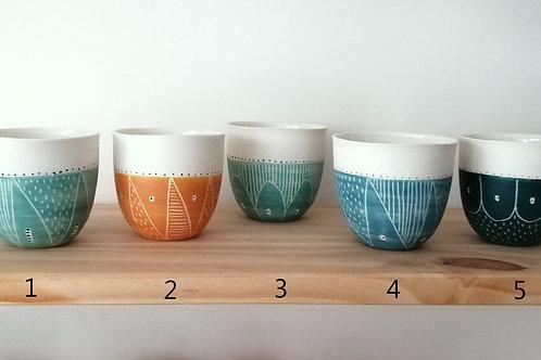 Tasse ronde porcelaine
