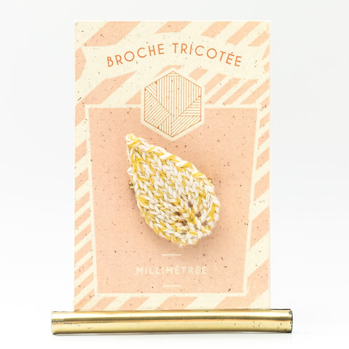 Broche Feuille   Moutarde 