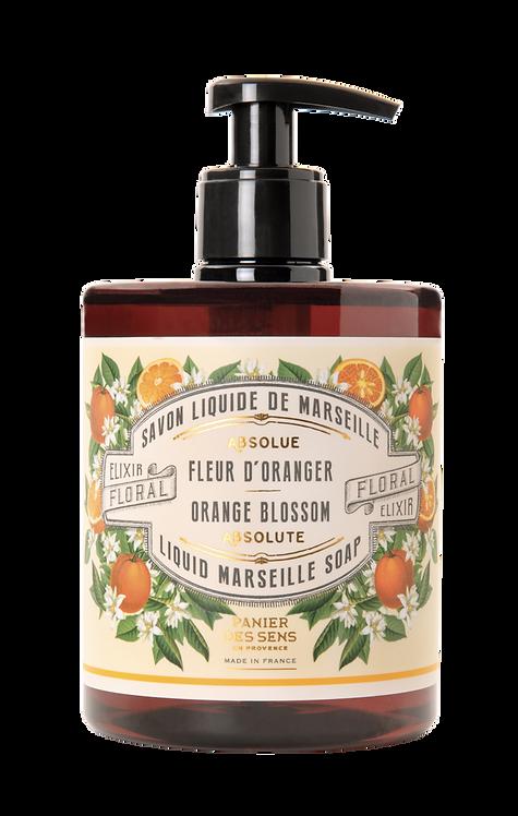 SAVON LIQUIDE DE MARSEILLE  Fleur d'Oranger Panier Des Sens