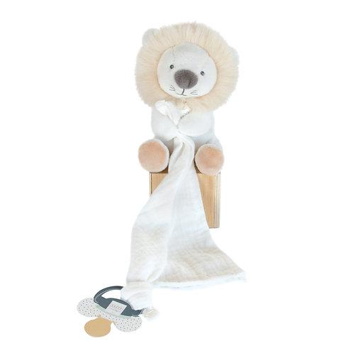Doudou attache sucette lion UNICEF