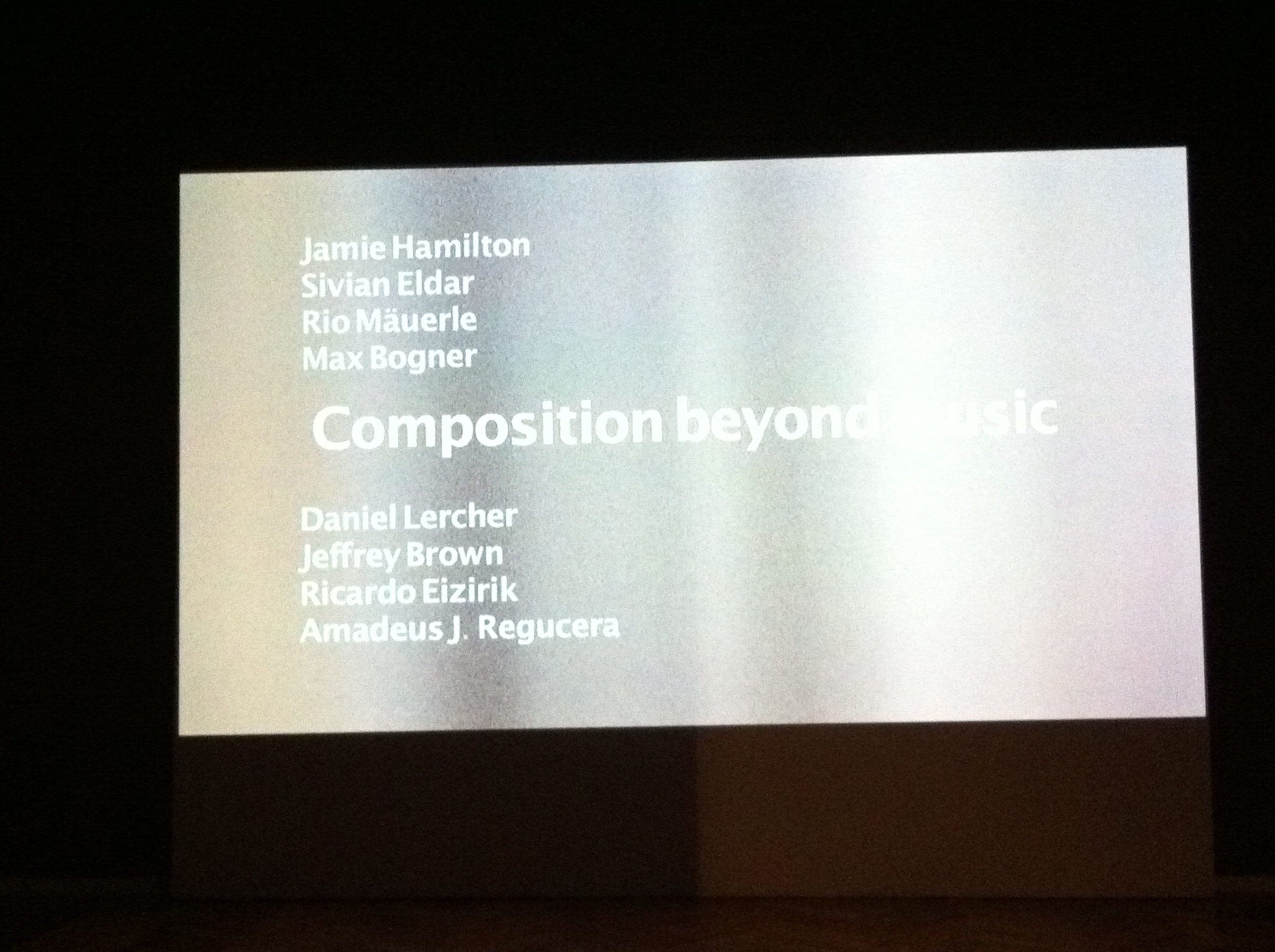 Composition beyond music