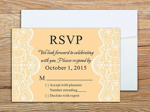 Double Sided Lace RSVP