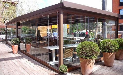 cerramiento terraza bar aluminio pvc