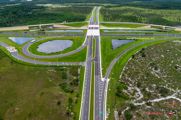 Aerial photo of SR528 and Innovation Way Interchange. Photo By Aerial Innovations, Inc