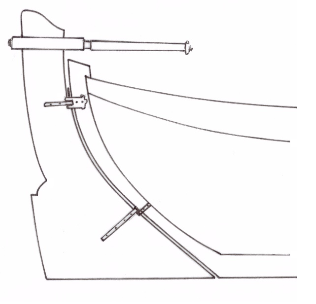 Fig. 8 Rudder of a 15-foot Norway Yawl from an Admiralty plan, n.d. [23] (sketch after, Royal Museums Greenwich plan: ZAZ 7146)