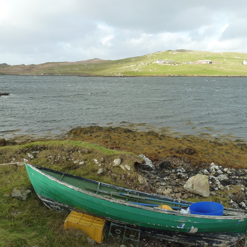 Old boat in noost at Clousta.