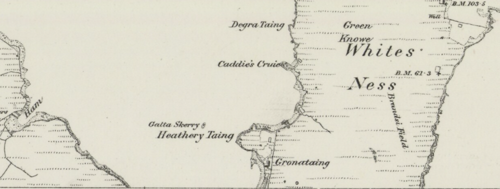 1878 map showing Gronataing
