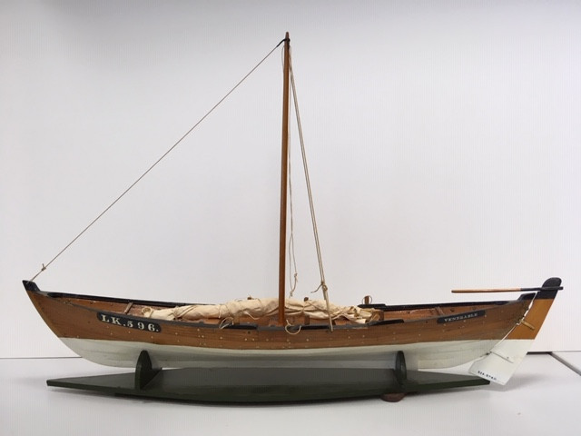 Model of the yoal 'Venerable' LK 596, built by Jack Shewan, date unknown. Photograph ©Moder Dy, 2019