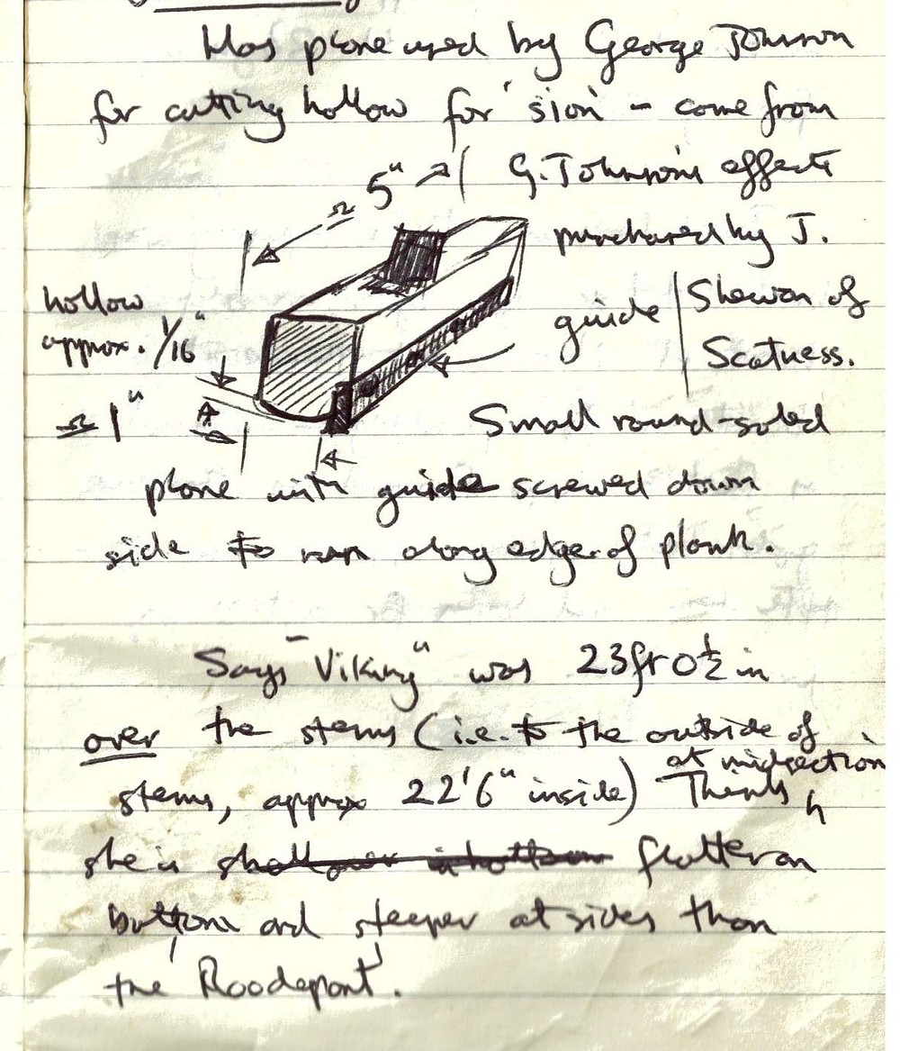 Field notebook entries re: yoal building, 1979