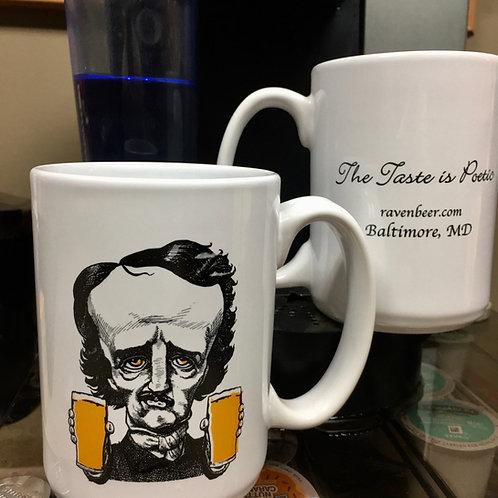 Two-Fisted Poe Ceramic Mug