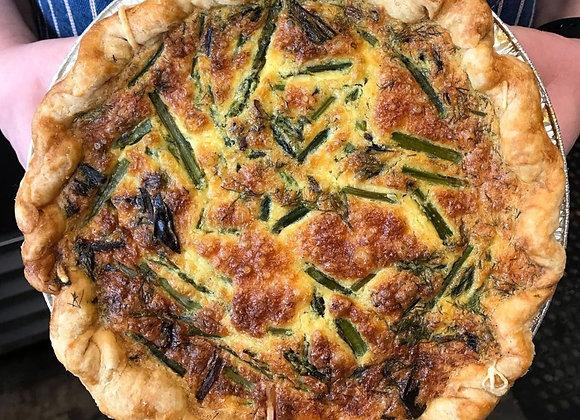 Asparagus, Goat Cheese & Dill Quiche