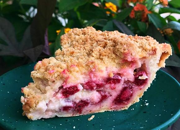 Sour Cream & Raspberry Pie