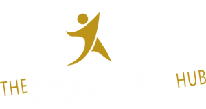 The Mindset Hub logo on blue transparent