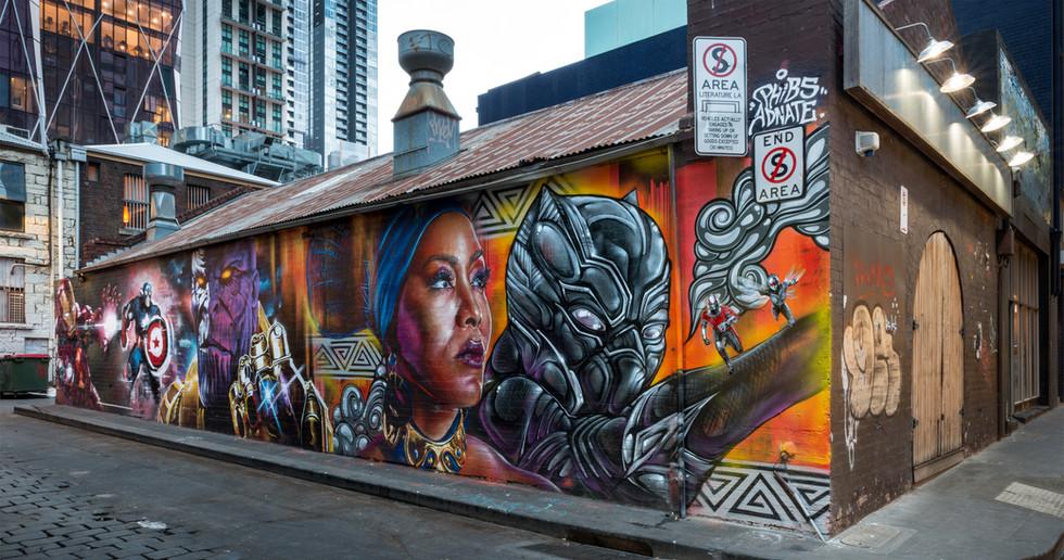 Marvel Wall - Melbourne CBD, 2017