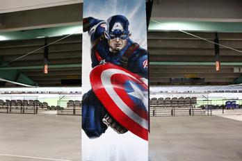 Marvel Stadium Pillars