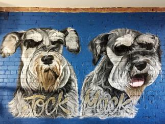 Doggo Mural - Jock and Mack