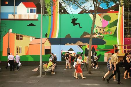 Telstra Mural, Bourke St. Mall, 2015